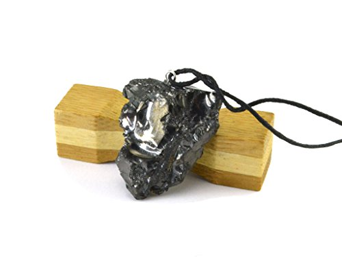 Karelian Heritage Best Elite Shungite Crystal Pendant, Protective Root Chakra Jewelry for Men (Raw 5-9 Grams) PE24