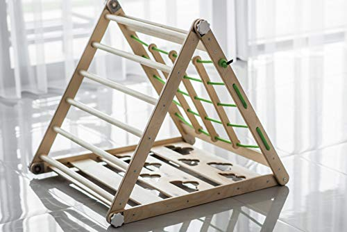 Pikler Triangle Kids Playhouse Montessori Toddler Gym Ladder Toy Baby Climber Slide Foldable Activity