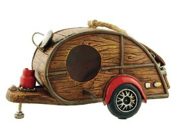 Birdhouse Woody Camper Remorque, RV et Collection Décor de Jardin, 20,3 cm