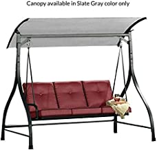 Garden Winds Replacement Canopy Top Cover for The Mission Ridge Sierra Vista Swing - Standard 350 - Slate Gray