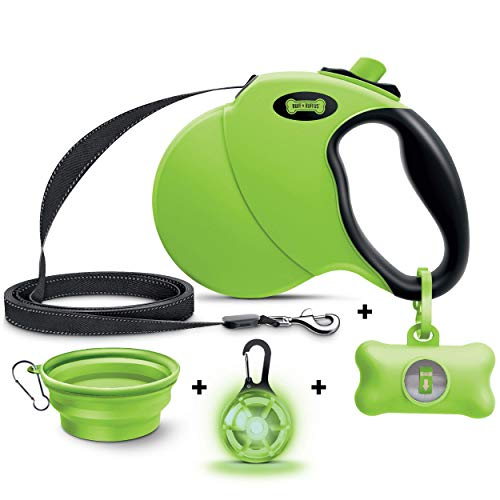 Ruff 'n Ruffus Dog Leash with Free Waste Bag Dispenser and Bags