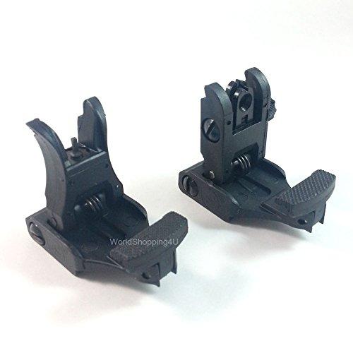 ATAIRSOFT Tactical Airsoft vorne und hinten Flip-up-Back-up Sight Set für 20mm RIS/RAS Schienen Picatinny