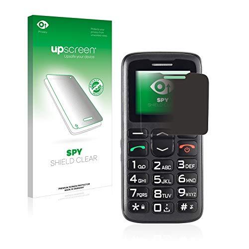 upscreen Anti-Spy Blickschutzfolie kompatibel mit Simvalley Mobile XL-915 V3 Privacy Screen Sichtschutz Bildschirmschutz-Folie