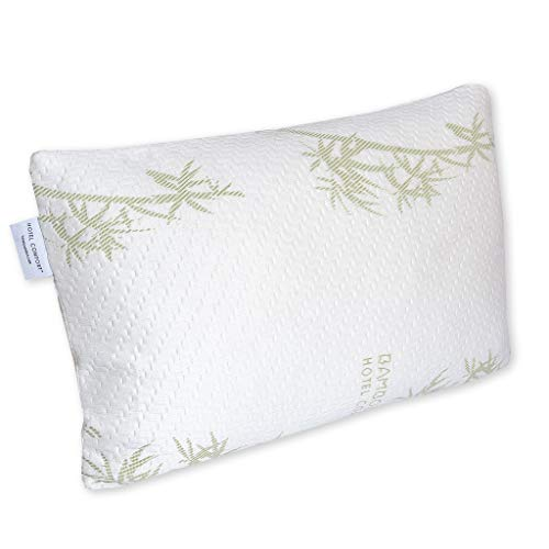 Hotel Comfort Premium Adjustable Memory Foam Pillow Ultra-Soft Bamboo Cover - Queen Size