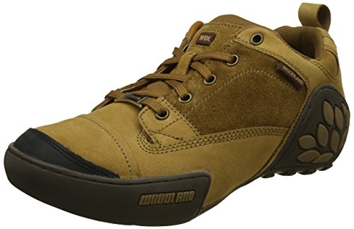 Woodland Men's Camel Leather Sneakers - (10 UK)