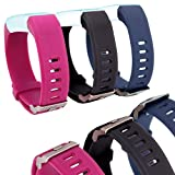 Waargroup Replacement Band for Fitness Tracker Bands ID115Plus-ID115 Plus Fitness Band Watch Smart Bracelet Wristband Colors for Men Women and Kids