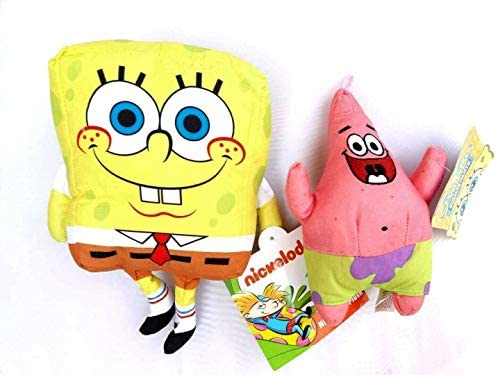Spongebob and Patrick Stuffed Figure Plush Doll Toy Set Gift Kids Boys Girls product image