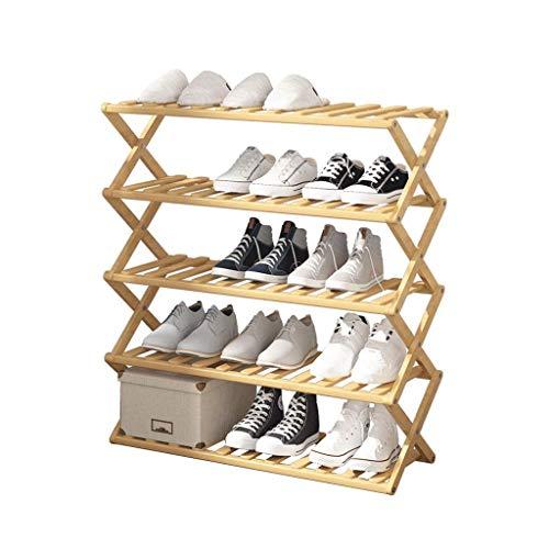 GAXQFEI Zapatero Plegable Plegable Zapato de Bambú Simple Multi-Capa Capacitación Económica Del Hogar Se Puede Instalar sin Instalación Bastidores de Alenamiento de Zapatos,C