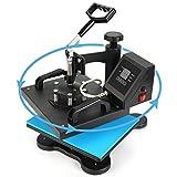 Aonesy 12x10 Heat Press Machine for T Shirts, Swing Away 360-degree Rotation Digital Heat Transfer Sublimation Machine (12 x 10 Inch)