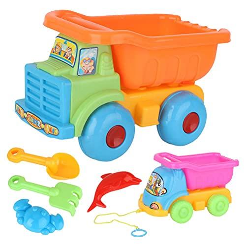Juego de Juguetes de Arena de Playa, Juguetes de Playa para Vacaciones Familiares con Pala de Pala, camión, Cubo de Arena con Formas de Animales para niños y niñas