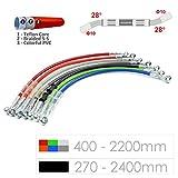 Ligne de tuyau de tube de tuyau de frein hydraulique tressé 10mm trou 400-2200mm (Black(Noir)/1500mm)
