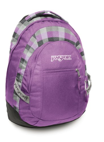 JanSport Rucksack Trinity, grey tar/purple slick parson plaid, 50x30x21, 30 liters, TUJ0