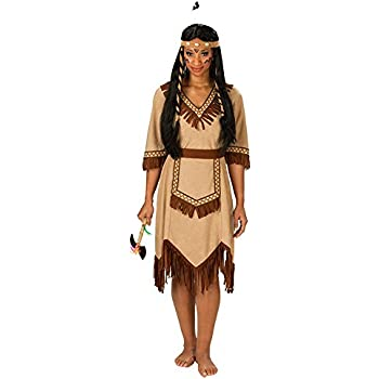 Disfraz de india flecos azules para mujer L: Amazon.es: Juguetes y ...