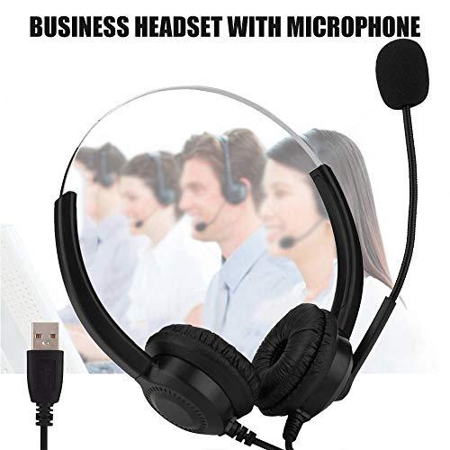 AZLMJXH USB Headset Lichtgewicht Computer Headset met Microfoon Online Controle voor Call Center Skype PC VOIP Telefoon