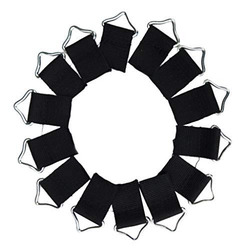 Colcolo 10pcs Anillos Triangulares de Acero Anillo de Bucle de Hebilla Accesorio de Fijación de Almohadilla de Salto de Trampolín