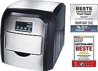 ProfiCook PC-EWB 1007 Máquina de hacer cubitos de hielo, 10-15 kg, 180 W, acero inoxidable, Negro y gris