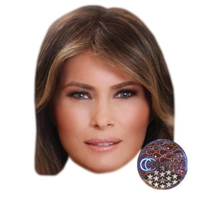 Melania Trump Celebrity Mask, Flat Card Face, Fancy...