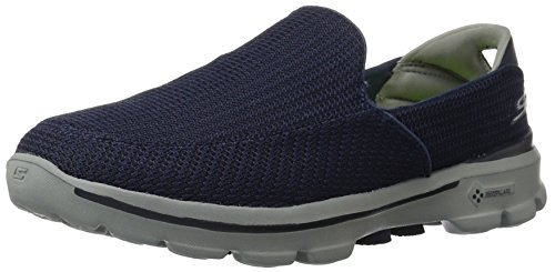 Skechers Performance Men's Go Walk 3 Slip-On Walking Shoe, Navy/Gray, 7 M US