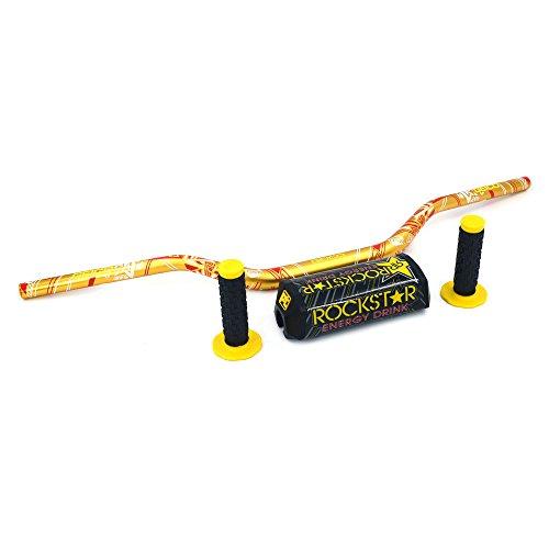 An Xin - Juego de manillar y empuñaduras para motocicleta, 28 mm, para moto de motocross, motocicleta de cross, pit bike, Suzuki RM250 RMZ250 DRZ400 RMZ450, color amarillo