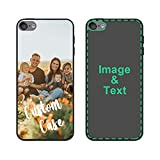 Personalized iPod Case for iPod Touch 5/6/7, Custom Photo iPod Cases Customized Gift for Birthday Xmas Valentines Friends Her Him, Protective iPod Touch 5/6/7 Black Case