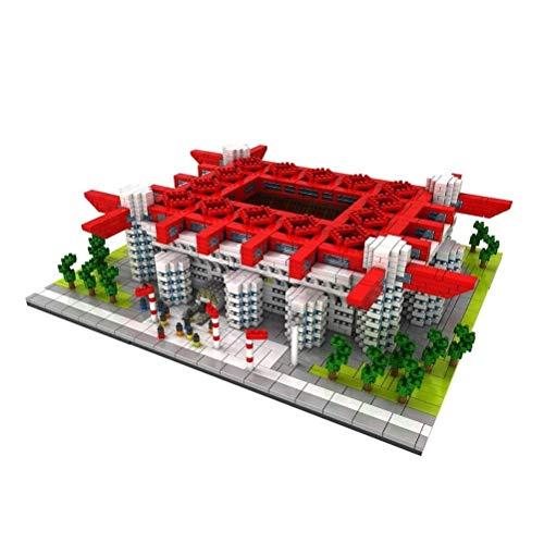 QXF-D San Siro Gebäude Model Set, Stadion Mini Bricks 3D for Erwachsene DIY pädagogische Spielwaren-Geschenk Puzzle und Kinder - 3800pcs + für Erwachsene Jugendliche und Kinder