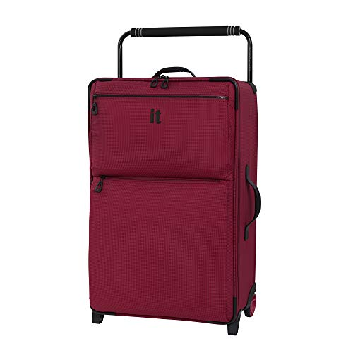 it luggage World's Lightest Los Angeles Softside Upright, Persian Red, Checked-Medium 30-Inch