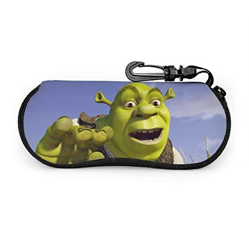 IUBBKI S-Hr-Ek Gafas de sol Estuche blando Neopreno Ligero Estuche portátil con cremallera para anteojos con clip para cinturón, Negro,