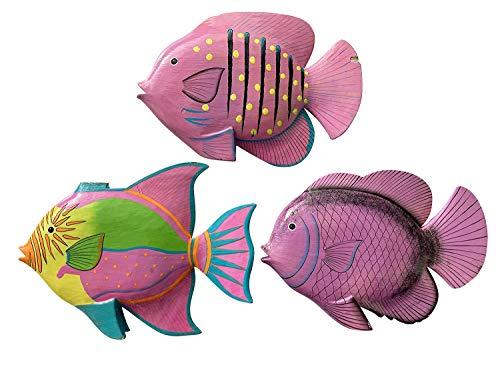 Figuras de peces gigantes para decoración – peces grandes de madera, figura de madera, idea decorativa, decoración de habitación infantil