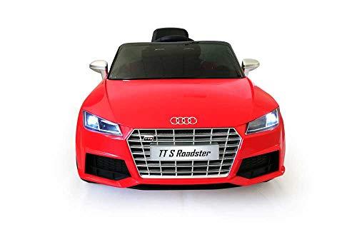 Babycar TT S-Line ( Rossa) Nuova Versione Macchina Auto Elettrica per Bambini 12 Volt Batteria con Telecomando 2.4 GHz Porte Apribili con MP3