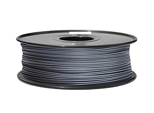 ezPrint Metall PLA Filament mit 20% Metallpulver 500g 1.75mm 1,75mm 3D Druck (Aluminium)