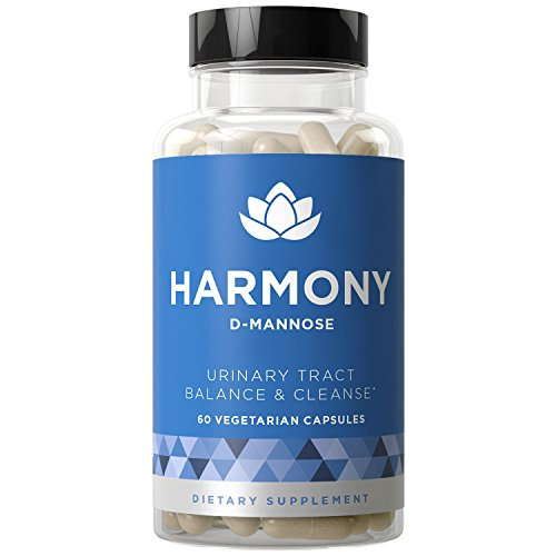 HARMONY D-Mannose - Urinary Tract Cleanse & Bladder Health - Fast-acting Potency, Strong Lasting Protection, Clean Impurities, Clear System - 60 Vegetarian Soft Capsules