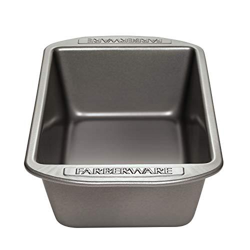 Farberware Nonstick Bakeware 9-Inch x 5-Inch Loaf Pan, Gray -