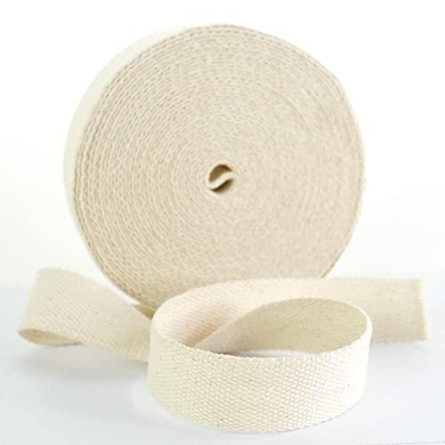 Trimit 10m Rollo de 30mm Color Crudo algodón Webbing