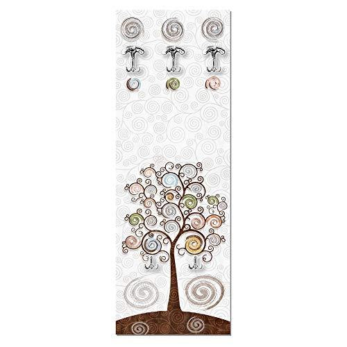 appendiabiti ingresso da parete Lupia Appendiabiti da Parete 49x139 cm Tree White