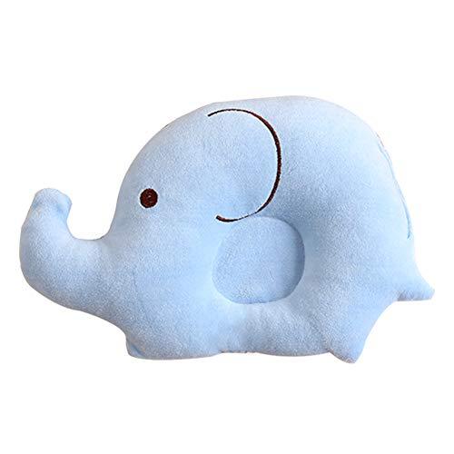 GARLIC PRESS 1Pcs Almohada de Bebé de Fibra de Poliester en Forma de Elefante Almohada Sueve de Dibujo Animado Lindo para Bebé Recién Nacido 0-2 Años (BU)