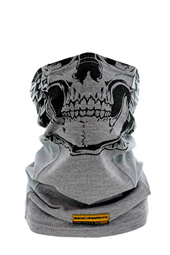 BENCHMARK FR Skully Flame Resistant Face Mask Neck Gaiter, One Size, Light Gray
