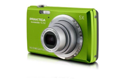 Praktica luxmedia 16-Z52 Digitalkamera (6,9 cm (2,7 Zoll) LCD Display, 16 Megapixel, 5-Fach dig. Zoom, 64MB interne Speicher, SDXC Kartenslot) grün