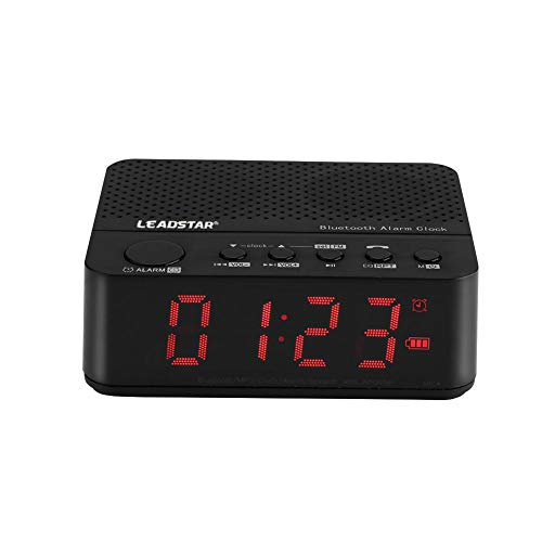 Alarm Clock Bluetooth Speaker, Wireless Bluetooth Speaker Music Audio MP3 Alarm Clock FM Radio Bluetooth Speaker with LED Display (Black)