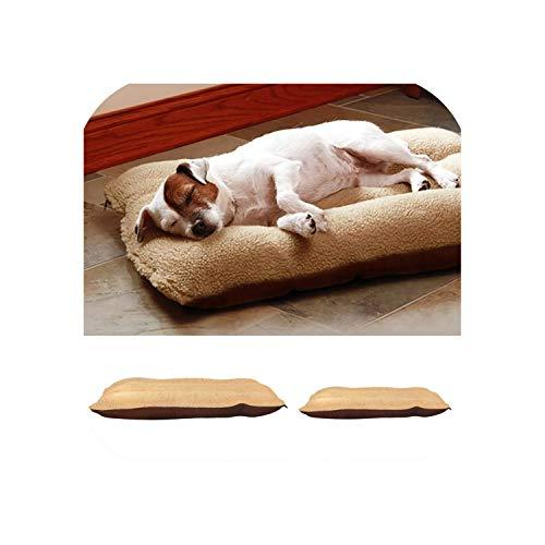 Pet Soft Pet Blanket Winter Dog Cat Bed Mat Beige Warm Sleeping Mattress Small Medium Dogs Cats Coral Fleece Pet Supplies,Beige,L