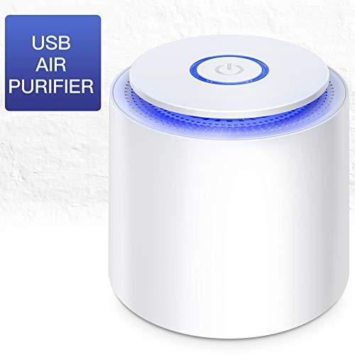 Luftreiniger Air Purifier 3 in 1 Desktop-Luftfilter Leiser Luftreiniger für Staub und Haustier-Allergene, Allergiker, Raucher, Asthma