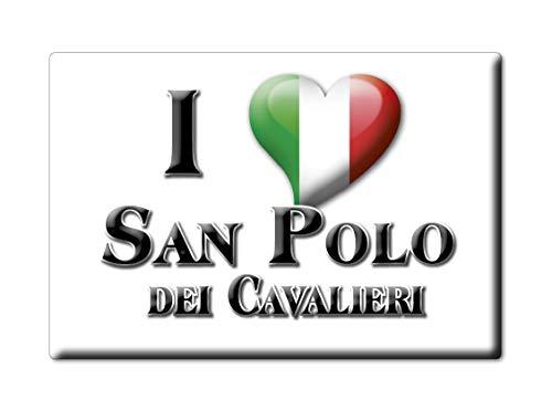 Enjoymagnets San Polo DEI CAVALIERI Souvenir IMANES DE Nevera Lazio IMAN Fridge Magnet Corazon I Love (VAR. GOCCIA)