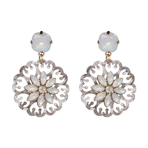 Presock Pendientes Mujer,Aretes 4 Colors Fashion Good Quality Women Statement Drop Earrings For Women Fashion Earring Wholesale Resin Oorbellen 50695-GY