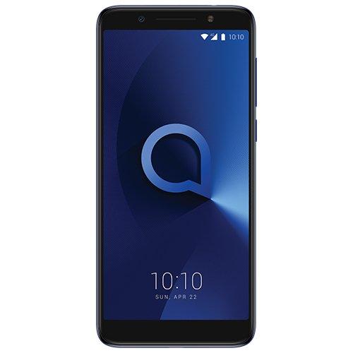"""ALCATEL 3X Smartphone Quad Core 1.28 GHz, Android N, 5.7"""" HD+ 18:9, 1440x720p, 4G, Cámara DE 13+5 Mpx y Frontal 5Mpx, 3GB de RAM, 32GB de ROM, (Azul) [Versión ES/PT]"""