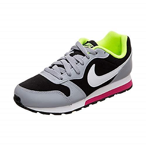 Nike MD Runner 2 (GS), Scarpe da Atletica Leggera Bambino, Multicolore (Black/White/Wolf Grey/Rush Pink 000), 36 EU