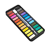 Pintura de la acuarela Set 24 colores de pintura de acuarela caja de pinturas de acuarela Conjunto pigmento pintura Dibujo herramienta de pintura modelo prop