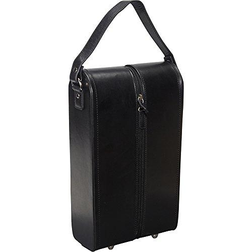 Price comparison product image Black Leather Double Wine Case Holder ( 22-0)