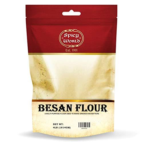 Spicy World Besan Chickpea Flour, 4 Pound