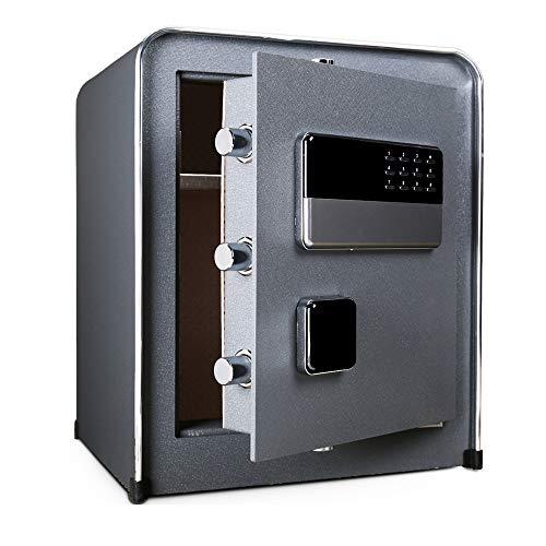 XMSIA Caja de Seguridad Electrónica Digital Caja Fuerte Digital con Teclado electrónico for la Seguridad del Hotel Almacenamiento joyería Pequeño Valor Seguro (Color : Dark Gray, Size : 38x32x45cm)