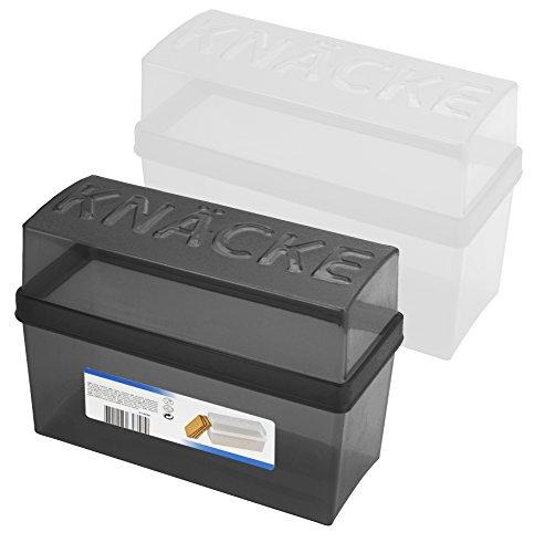 2 Stück 2 tlg. Knäckebrot Box 1,65 Liter mit Deckel - Brotbox - Box