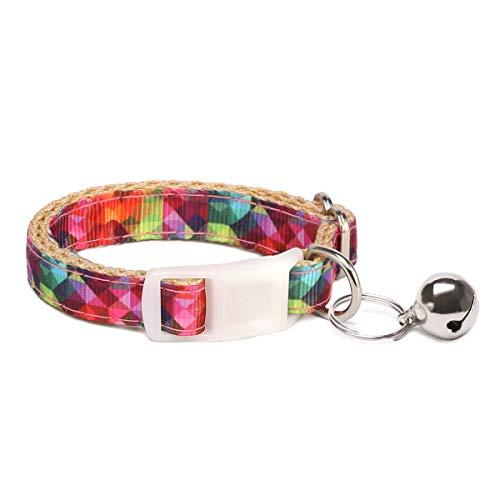 waaag Tierbedarf, Stammes-Azteken-Chevron Mehrfache Designs Hundehalsband/Katzenhalsband(Kaleidoskop-Diamant, Größe XS. Hals 22.8-38cm)